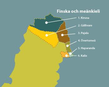 tornedalen karta Områden finska och meänkieli   Minoritet.se tornedalen karta